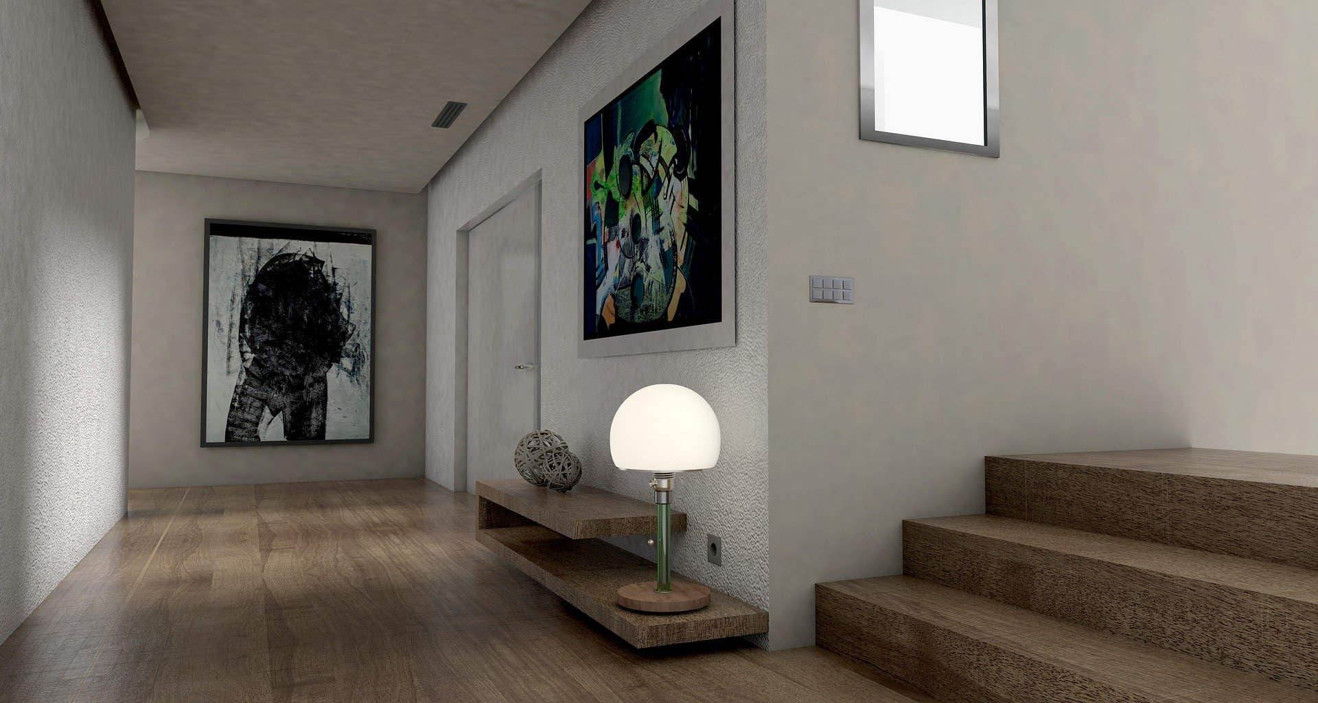 Vista pasillo y escaleras de vivienda